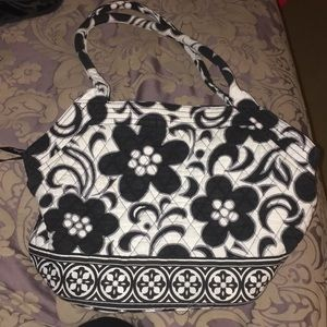 Vera Bradley Angle Tote in Day and Night print